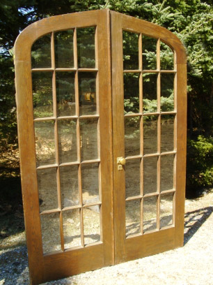 Architectural Antiquities 105 Oak Curved Top French Doors 55 34